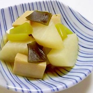 電子レンジ圧力鍋de大根と高野豆腐の煮物