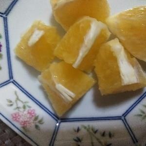 オレンジのとっても食べやすい切り方