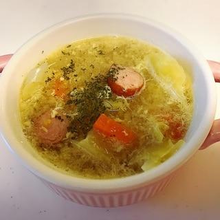 野菜たっぷり!卵のコンソメスープ