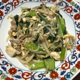 簡単ボリューム夕飯★豚肉と小松菜の中華風卵炒め