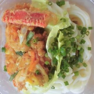 こどものお弁当★野菜かき揚げ冷やしうどん