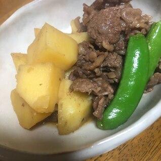 ジャガイモと牛肉の煮物