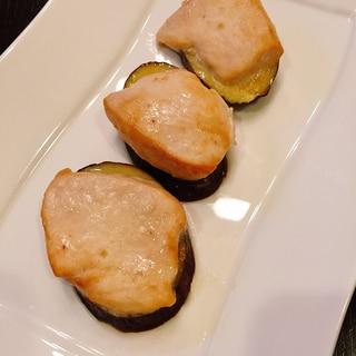 鶏むね肉となすの重ね焼き★オーブントースターで簡単