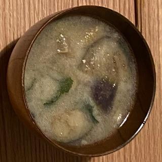 業務スーパーの冷凍なすとわかめの味噌汁