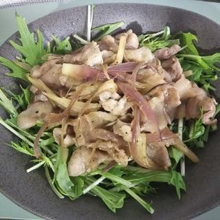 豚肉と茗荷のポン酢炒め