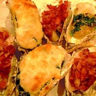 定番の美味しい焼き牡蠣★3種