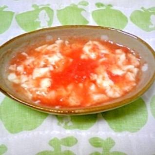 <離乳食中期>トマト豆腐