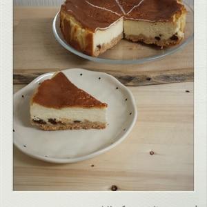 レーズン入りベイクドチーズケーキ