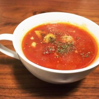 マカロニ入り食べるトマトスープ☆