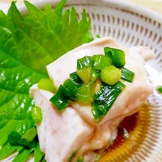 フグにも負けない美味しさ~鯛の白子ポン酢~