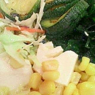 ズッキーニと豆腐のホットサラダ