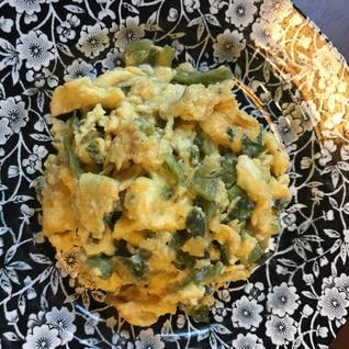 青菜漬けの卵焼き