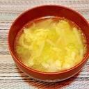 たけのこと卵の中華風スープ