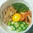 糖質制限・低カロリー☆糖質0麺のねばねば丼