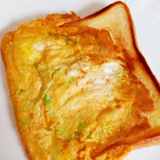 きゃべつと卵のトースト