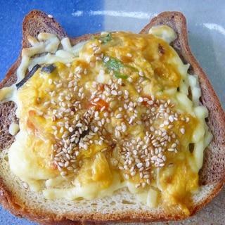 ♥ 残ったかに玉で! かに玉チーズトースト ♥
