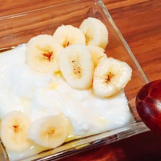 甘くて美味しい♪バニラ風味のバナナヨーグルト