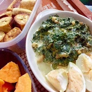 タンザニア風☆緑の野菜の炒め煮「ムボガ」