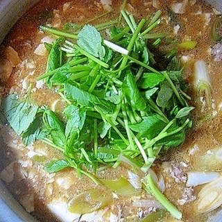 ひき肉と豆腐のチゲ