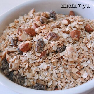 米粉を使った自家製グラノーラ(アーモンド・きなこ)