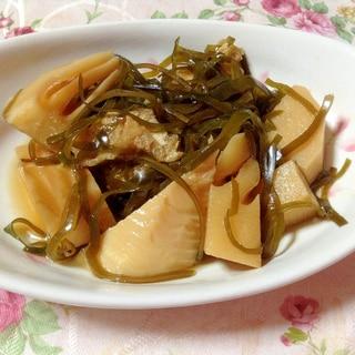切り昆布と筍の煮物
