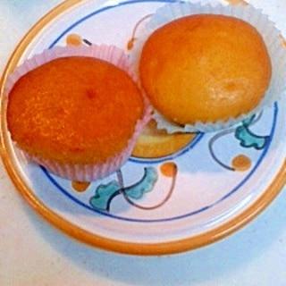 にんじんジュース入りカップケーキ