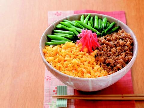 楽天マート☆三色丼