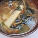 余った筍でお味噌汁作ってみました