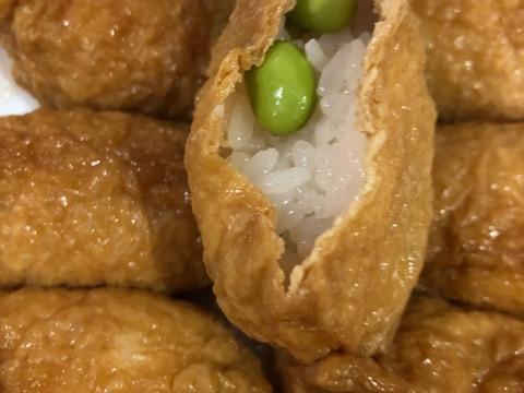 枝豆いなり寿司^_^