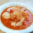 鶏肉とトマトのホットスープ
