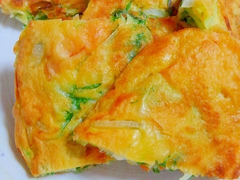 水菜消費 簡単チヂミ