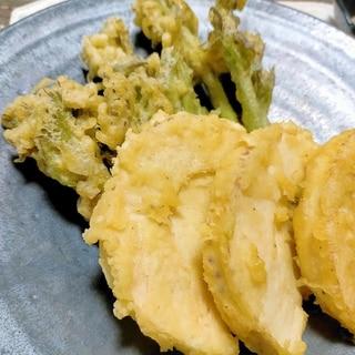 ■10分で..採れたてタラの芽と筍の天ぷら