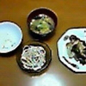 豆腐とわかめの味噌汁++