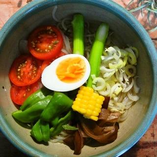 夏野菜の冷麺