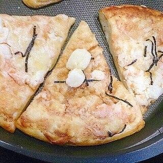 ピリ辛ソースでポテト明太子ピザ