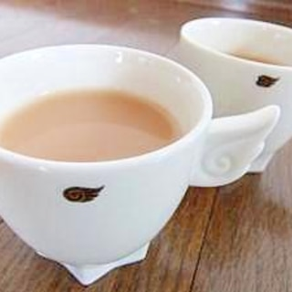 ジャスミン茶で濃厚幸せミルクティー♪