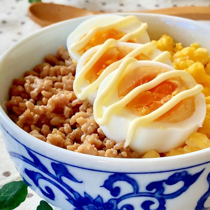 ★甘辛ひき肉とふんわり卵のそぼろ丼★