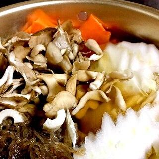 鍋物の出し(よせ鍋)