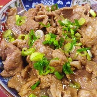 豚肩ロース黒酢生姜焼き