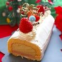 ピスタチオとルビーチョコムースのロールケーキ