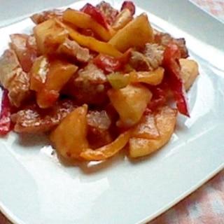 りんごの酢豚