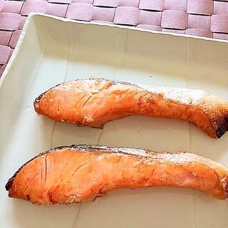 洗い物なし♪な塩鮭の焼き方✿