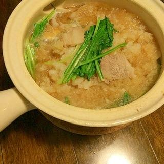 ほっこり☆豆腐と壬生菜のみぞれ煮