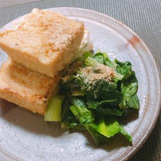 居酒屋メニュー☆小松菜と厚揚げの焼きびたし☆簡単