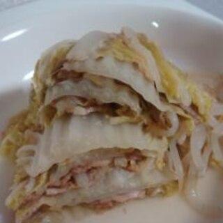 白菜と豚肉の無水鍋