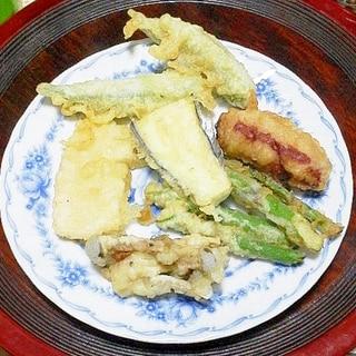 筍やアスパラ、オクラの天ぷら