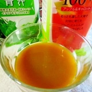 青汁を美味しく  青汁ジュース割り