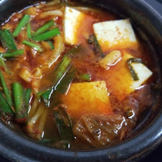 スタミナ☆豆腐チゲ