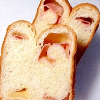 HBでハム&チーズ食パン