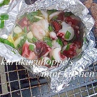 【BBQ】タコのガーリックオイル焼き